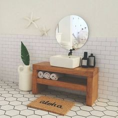 """Gefällt 93 Mal, 11 Kommentare - Tiny Bungalow (@_tinybungalow) auf Instagram: """"Dolls house bathroom crush ♡ we are so in love with this bathroom by the super amazing…"""""""