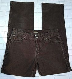 e1271b80 J Crew Corduroy Jeans Pants Dark Brown Women's Size 4 #JCrew #StraightLeg