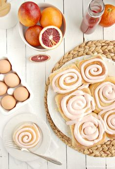 Blood Orange Sweet Rolls {with Blood Orange Cream Cheese Buttercream}