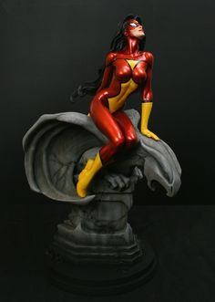 Spider-Woman statue Sculpted by: Mark Newman  Release Date: June 2011 Edition Size: 800 Order Of Release: Phase V (statue #238)  14 tall overall
