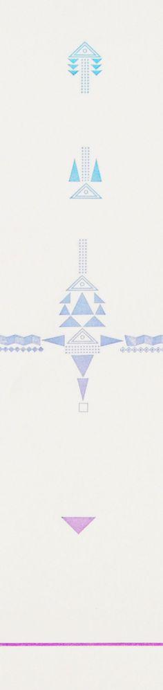 Geometric SHELTER Letterpress Print - Limited Edition $32 by shelterprotectsyou on etsy