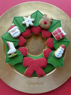 Advent cookie wreath by Gingerland