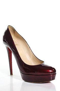 Christian Louboutin Red Patent Leather Platform Stiletto Pumps Size 40 10