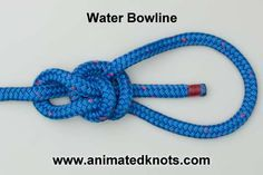 Tutorial on Water Bowline Knot Tying
