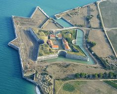 """Fort de la Prée, France, found via The World Geography - """"The Fort de La Prée is a French fortification located near the eastern end of the Ile de Ré (an island off the west coast of France). The fort was built by French officer Toiras, Governor of the island, following the capture of the recovery of the island by Royal troops against Huguenot insurgents in the Siege of Saint-Martin-de-Ré (1625)."""""""