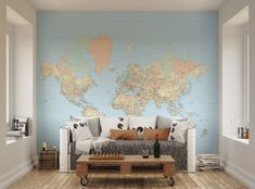 ohpopsi Antique Vintage Map Of London Wall Mural