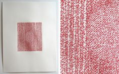 Emily Barletta - Untitled 9, 2011, thread and paper, 18 x 24 inches
