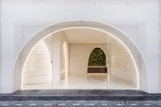 A Communal Spot for the Tiger Moms of Shanghai by Wutopia Lab Tiger Moms, Winter Shower, Continuous Lighting, Arched Doors, Arch Interior, Shop Fronts, Building Facade, Old Town, Shanghai