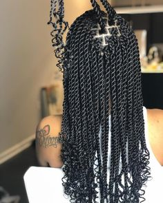 Merry day on got sooo many questions about this hair! all my twist senegalese and rope twist are done with xpression braiding hair Box Braids Hairstyles, Girl Hairstyles, Senegalese Twist Hairstyles, Senegalese Twist Braids, Cornrows, Baddie Hairstyles, Wedding Hairstyles, Sisterlocks, Fringe Hairstyles