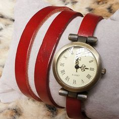 Simple Design Leather Wrap Watch