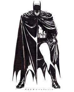 """""""BATMAN: YEAR ONE house ad By David Mazzucchelli"""""""