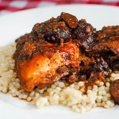 Slow Cooked Moroccan Chicken with Mission Figs - an amazing mix of flavours in an easy chicken dish with a heavenly aroma to fill your kitchen as it cooks.