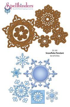 JustRite Papercraft   Spellbinders   S5-185 2013 Snowflake Pendant  Spellbinders Christmas Dies