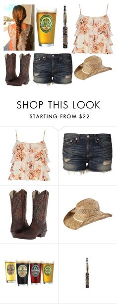 """""""Beer in the Headlights"""" by jwpixie ❤ liked on Polyvore featuring River Island, rag & bone, Ariat, KENNY and Young & Reckless"""