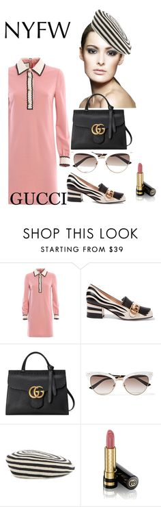 """""""NYFW - GUCCI"""" by shistyle ❤ liked on Polyvore featuring Gucci, NYFW and gucci"""