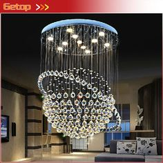 189.05$  Buy now - http://alii33.shopchina.info/go.php?t=32306172190 - Best Price Modern LED K9 Crystal Chandeliers Duplex Villa Staircase Chandelier Tellurion Hanging Wire Hall Llights Project Lamp 189.05$ #SHOPPING