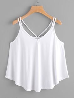 To find out about the Strappy Cami Top at SHEIN, part of our latest Tank Tops & Camis ready to shop online today! Cami Tops, Teen Fashion Outfits, Girl Outfits, Cute Casual Outfits, Summer Outfits, Jugend Mode Outfits, Mode Top, Fashion News, Fashion Fall