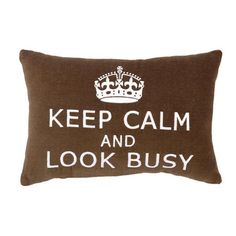 Ha!  Keep Calm & Look Busy Pillow at Joss & Main