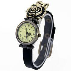 71e53d096f6 1 PC nova chegada moda mulheres senhoras meninas Brithday presente Rose relógios  de mão relógios de pulso de luxo antigo em Mulheres Relógios de Relógios no  ...