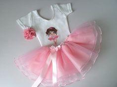 Conjunto - Bailarina - 1 a 8 anos