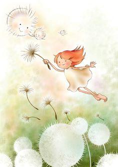 Volar-diente de león Flying dandelion