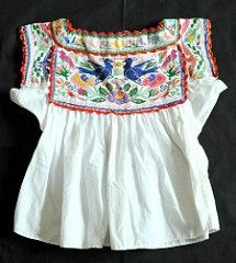 Mexico Chatino Blouse Oaxaca (Teyacapan) Tags: flowers flores birds mexico clothing embroidery blouse mexican pajaros oaxaca textiles ropa bordados blusa chatino yaitepec