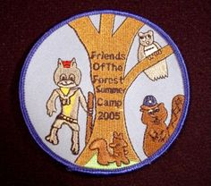 """Friends Of The Forest Summer Camp 2005, 3 1/2"""" Across, Scouting, Cubs, Beavers"""