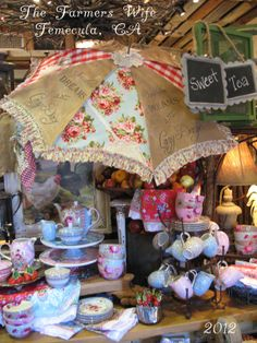 Sweet Magnolias Farm Original Farm-Brella .. Now available at the Farmers Wife in Temecula, CA