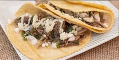 Green Chile Pork Tacos using Stubb's Green Chile Anytime Sauce