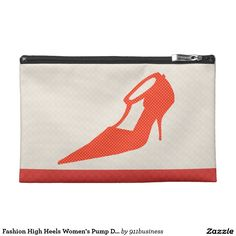 Shoe Cuture. Customize this   High Heels Women's Red Polka Dots Designer Shoe Illustration  on a custom  Travel Accessories  Bags. A great design option for fashion bloggers, show addicts and more.