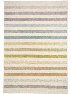 Teppich Pastel Striped Beige