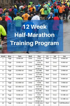 Planning a half marathon? Here's a excellent training program that will build miles slowly and safely for an injury-free run.
