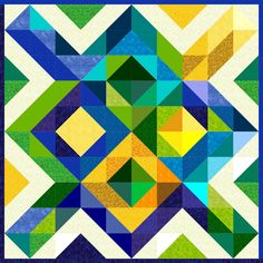 designs for a baby quilt Barn Quilt Designs, Barn Quilt Patterns, Quilting Designs, Painted Floor Cloths, Square Quilt, Baby Quilts, Blue Yellow, Art Girl, Diy Design