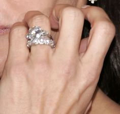 Angie Harmon engagement ring, love how bands are different