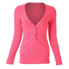 c10bf7f2023 Stylish V-Neck Long Sleeve Button Design Solid Color Women s Blouse