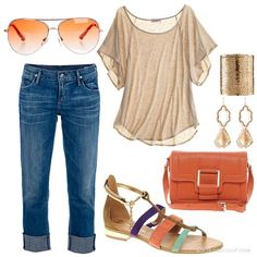 Look casual - jean y polo beige Look Fashion, Fashion Beauty, Fashion Outfits, Fashion Styles, Looks Style, Style Me, Casual Outfits, Cute Outfits, Summer Outfits Women