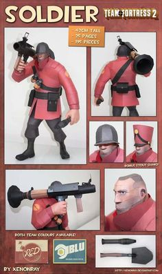 Team Fortress 2 Soldier Papercraft