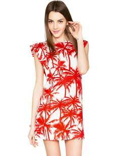 Tropical Print Dress // Perfect for a summer getaway