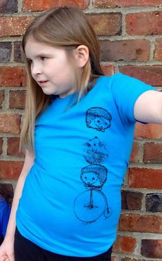 Looking for the perfect Gift for Girls? Our Hedgehog Graphic Childrens Tee Shirt will make her smile! Get one today: https://www.etsy.com/listing/288676737