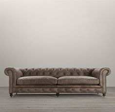 Kensington Leather Sofas   Antiqued Ebony