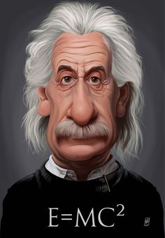 Albert Einstein E=MC² by Rob Snow (Dunway Enterprises) http://www.learn-to-draw.org/caricatures_clb.html?hop=dunway