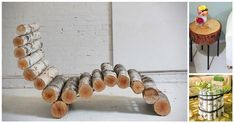 Turn Your Home Into An Outdoorsy Paradise Using Logs World Crafts, Home Crafts, Diy Home Decor, Diy Crafts, Log Projects, Furniture Projects, Projects To Try, Woodworking As A Hobby, Woodworking Projects