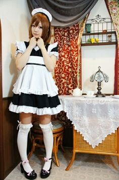 Just Beauty, Beauty Women, French Maid Dress, Kitchen Maid, Maid Cosplay, Tokyo Otaku Mode, White Apron, Photoshoot Inspiration, Cheer Skirts