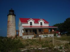 Charity Island Lighthouse is located on an island in the middle of Saginaw Bay of Lake Huron off the coast of Caseville, Michigan