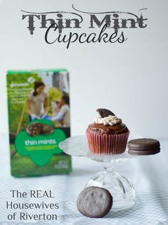 The REAL Housewives of Riverton: Thin Mint Cupcake Recipe