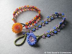 Tutorial on how to make Nepal Chain Bracelets ... so lovely and quick to work up