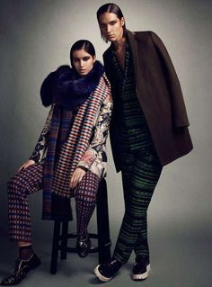 Stoic Androgynous Fashion - The Max Abadian for Flare December 2011 is Cleverly Collapsed (GALLERY)