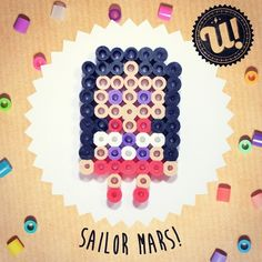 Sailor Mars hama beads by unipireu