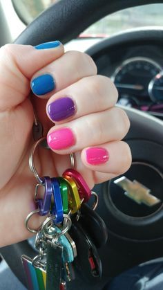 Pin on Lgbt️‍q+ Juwel Tattoo, Pride Tattoo, Pride Outfit, Gay Pride, Nail Inspo, Nails Inspiration, How To Do Nails, Cute Nails, Hair And Nails