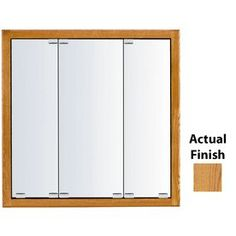 Kraftmaid Classic 29-In X 28-In Square Surface/Recessed Mirrored Wood